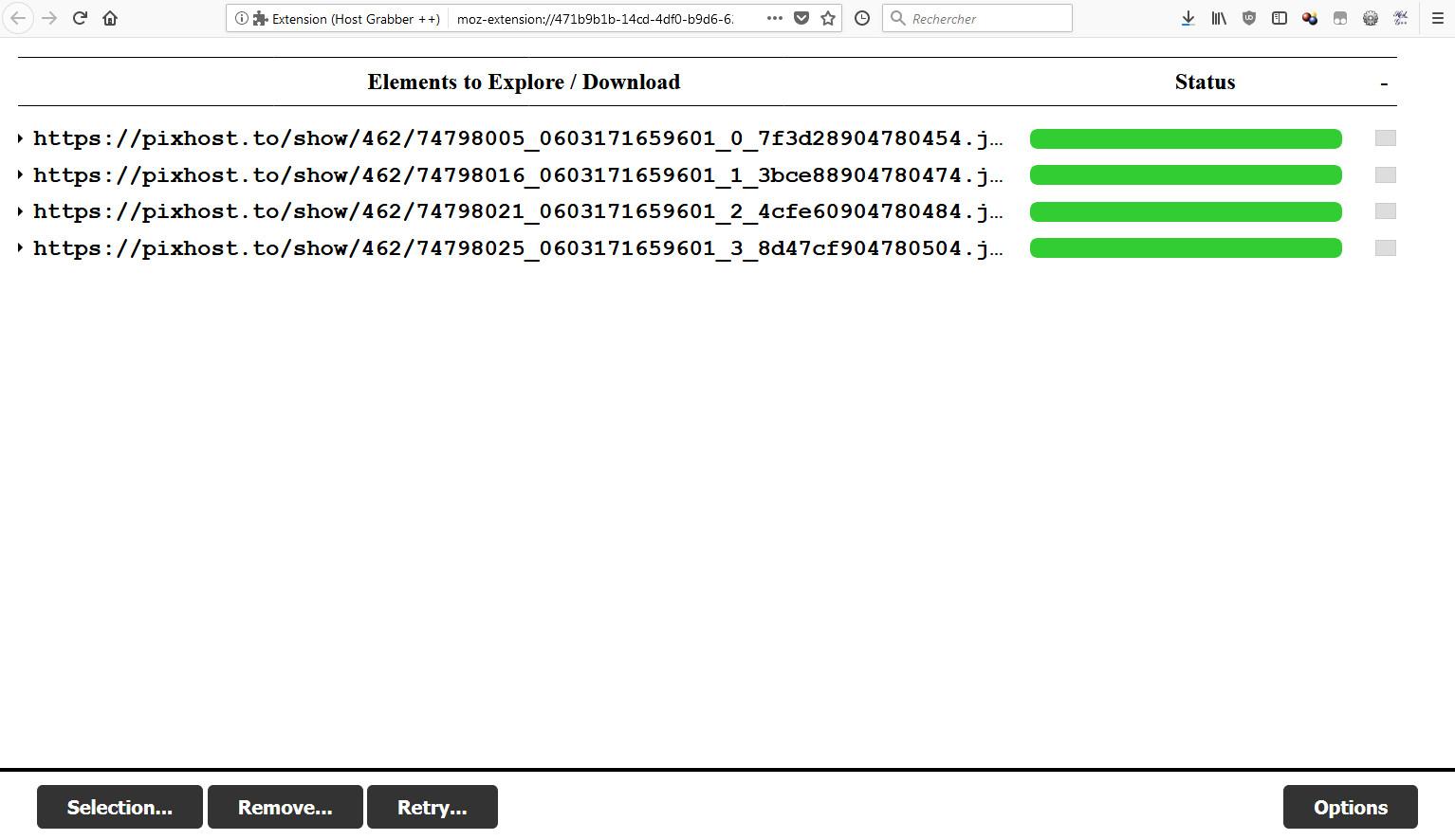 Host Grabber ++   A web extension, originally designed for