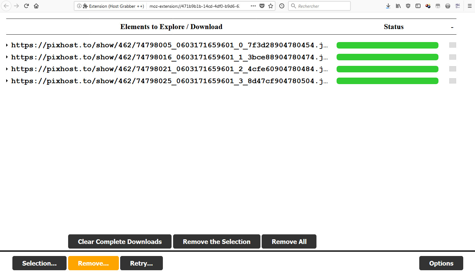 Host Grabber A Web Extension Originally Designed For Firefox To Find And Download Media Files From Various Hosts